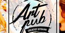 ArtPub / Foto's van de schilder workshops van Artpub. Workshop   Schilderen   Bedrijfsuitjes   Vrijgezellenfeesten   Avondje uit