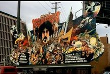 Rock 'n' Roll Billboards / These awesome music billboards were photographed on Sunset Boulevard in California between 1974 and 1975.