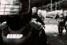 Escuadrón Móvil Antidisturbios #ESMAD / El Escuadrón Móvil Antidisturbios #ESMAD, no solo cumple funciones relacionadas con el  control de disturbios y protestas, si no que también tiene el compromiso de velar por la seguridad, convivencia y bienestar de todos los colombianos.