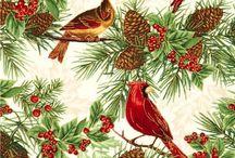 Art: Watercolor X-mas / Watercolor xmas card, акварель и винтажные новогодние откпытки
