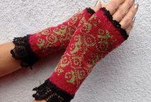 tricoter des gants, mitaines knitting gloves  mittens / tricot  knitting