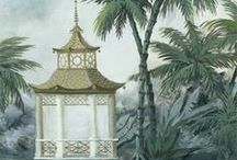 : sonnet☟Chinoiserie : / Tickety Boos of Everything in Beautiful Chinoiserie Home Combos.