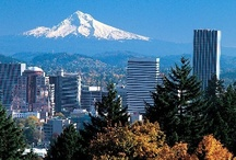( Portland Oregon ) / Surrounded by The Columbia & Willamette Rivers, Cascade Mountains & The Columbia Gorge, Old-Growth Forests, Lakes & Waterfalls, Pacific Ocean Beaches & The High Desert. / by ( Portland And Oregon )