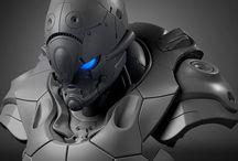 Mecha / Robots, Super Robots, Machines, Mecha & Powered Armor / by Kenny C