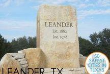Leander, Texas USA / Leander, Texas, USA in Williamson County, Texas and Travis County, Texas.