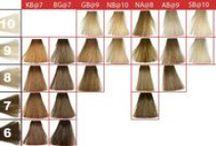 Elumen Hair Color LIGHT / Goldwell Elumen Haarfarben Hellbraun und Blond.  Goldwell Elumen Hair Color light.