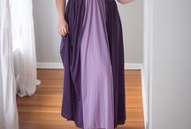CASCADE FULL LENGTH GOWN / Our beautiful and elegant cascade gown is so named because of Its cascading flow. It truly is our most popular gown and comes in a purple / lavender and a dark blue / baby blue combination. Sizes run from small to 4X and is $49.95.