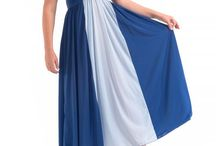 """CASCADE GOWN IN TWO TONE BLUE / The Cascade Gown is so named because it """"cascades"""" down from a form fitting bodice with a full hem sweep of 120"""". This gown flatters every figure and is available in sizes Small to 4X and provides support where it's needed most. www.preciouscurves.com"""