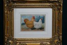 Chicken Prints / Antique prints of chickens