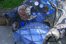 Hypertufa, beton a mozaika
