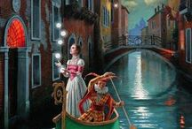 Michael Cheval / Michael Cheval is a contemporary artist specializing in Absurdist paintings, drawings and portraits.