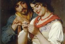 Eugene de Blaas  / The artist Eugene de Blaas also known as Eugenio De Blaas or Eugen von Blaas,was born on July 24th in the Italian village of Albano, near Rome in 1843, to Austrian parents. His career was enriched by a talented and artistic family. His father, Carl von Blaas (1815-1894).Painter of portraits, women, nudes, balcony-and genre scenes, children in the Realist and Romanticism style. Eugene de Blaas died on the 10th Febuary in the Italian city of Venice in 1932.