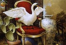 "Kevin Sloan / At the core of Kevin Sloan's work is a deep concern and respect for our planet particularly its ""silent inhabitants"" - the animals and plants we share this world with. Through allegory and symbolism he expresses this concern and at the same time reminds viewers of the wonders in this extraordinary world."