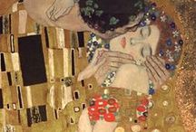 Gustav Klimt / Gustav Klimt (July 14, 1862 – February 6, 1918) was an Austrian symbolist painter and one of the most prominent members of the Vienna Secession movement. Klimt is noted for his paintings, murals, sketches, and other objets d'art. Klimt's primary subject was the female body;[1] his works are marked by a frank eroticism.[2]