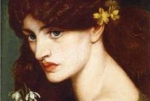 Dante Gabriel Rossetti / Dante Gabriel Rossetti (/ˈdænti ˈɡeɪbriəl rəˈzɛti/;[1] 12 May 1828 – 9 April 1882) was an English poet, illustrator, painter and translator. He founded the Pre-Raphaelite Brotherhood in 1848 with William Holman Hunt and John Everett Millais, and was later to be the main inspiration for a second generation of artists and writers influenced by the movement, most notably William Morris and Edward Burne-Jones.