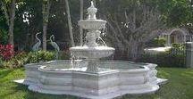 Garden Fountains / Beautiful Cast Stone Garden Fountains