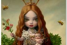 "Mark Ryden / Mark Ryden (born January 20, 1963) is an American painter, part of the Lowbrow (or Pop Surrealist) art movement. He was dubbed ""the god-father of pop surrealism"" by Interview Magazine. Ryden's aesthetic is developed from subtle amalgams of many sources: from Ingres, David and other French classicists to Little Golden Books. Ryden also draws his inspiration from anything that will evoke mystery; old toys, anatomical models, stuffed animals, skeletons and religious ephemera found in flea markets."