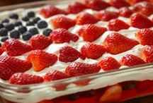 Stars and Stripes and JELL-O / O, say, can you see our amazing JELL-O Recipes? / by JELL-O