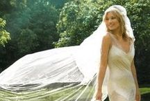 Wedding Veils / The wedding veil provides a layer of lacy intimacy and secrecy for a bride as she comes down the aisle.  What will not be a secret is her brilliant, sparkling diamond she is wearing from Mucklow's Fine Jewelry.