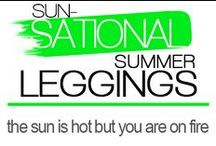 Sun-Sational Summer Leggings / Summer is all about vibrant and fun pieces to sport and show off your unique sense of style.