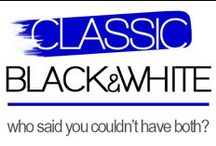 Classic Black 'N' White / Chic and sophisticated black and white is always in and will  be a fashionable addition to your women's collection.