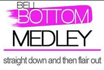 Bell Bottom Medley / Bell bottom pants are flowy, sexy and amazingly comfortable and have a slimming silhouette for all figures. T