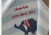 Gifts for babies / Lovely gifts for babies and young children, all personalised with the childs own name on.