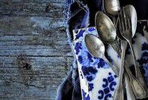 les blues / Een beetje stoer, een beetje rouw. Maar vooral heel erg blauw. Dit bord inspireert met blauwe kleuren met een rouw en industrieel randje. Niet te lief wel heel natuurlijk.