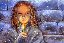 Once upon a time in Cristmas..... / The dark, cold streets were not the best place for a little girl, especially on Christmas Eve......All is calm, all is bright....The Little Match Girl still makes me cry....
