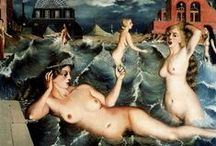 Paul Delvaux / Paul Delvaux (French 23 September 1897 – 20 July 1994) was a Belgian painter associated with Surrealism, famous for his paintings of female nudes. Delvaux was born in Antheit in the Belgian province of Liège, the son of a lawyer. The young Delvaux took music lessons, studied Greek and Latin, and absorbed the fiction of Jules Verne and the poetry of Homer.