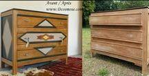 Relooking meubles Avant / Après / Découvrez les avant après de dcosmose.com, créa récup relooking de mobilier vintage industriel meubles en bois ancien chaises tables commodes buffets