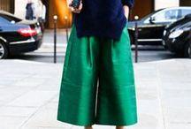 Culotte Styles / Culottes- eine dreiviertel lange Hose die gerade den Markt beherscht