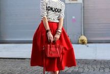 Red Styles / Rote Lookkreationen