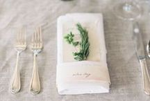 Napkins, Silverware, Place Settings