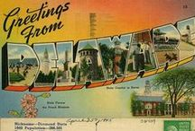 Delaware Postcards Old & New / The Delaware Store has exclusive post cards that we make and we collect old post cards for our own amusement, real ones & images.