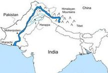[Ancient] Indus  / The Indus Valley Civilization was a Bronze Age civilization (3300–1300 BCE; mature period 2600–1900 BCE) extending from what today is northeast Afghanistan to Pakistan and northwest India. Along with Ancient Egypt and Mesopotamia it was one of three early civilizations of the Old World, and of the three the most widespread. It flourished in the basins of the Indus River, one of the major rivers of Asia, and the Ghaggar-Hakra River, which once coursed through northwest India and eastern Pakistan. / by Rata Maka