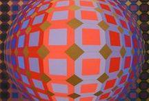 Optical Art / Optical/Geometric Art available at GallArt.com
