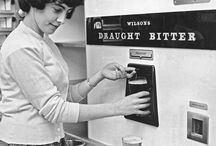 Vintage Vending Machines / Vintage vending machines and alcohol adverts  www.vintageclothin.com