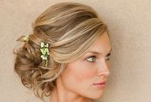 Bridal hair / Curls and upstyle