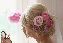 hair accessories / Fresh and silk flowers