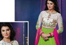 Celebrity Inspired  Suits / Look like your favorite celebrity with our designer collection of celebrity inspired  suits @ best prices. Order yours now from http://www.sanwaree.com/Shop/SALWARS/Celebrity-Inspired-Suits