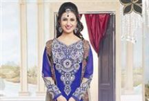 Divyanka Tripathi Style Suit. / Sanwaree Fashions Offers Latest Divyanka Tripathi Salwar Suits Collection Onine at best rates with free shipping in India. http://www.sanwaree.com/Buy/Whats-New/Divyanka-Tripathi-Designer-Palazzo-Suit-5618