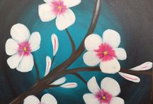 Let's Paint Painting Gallery / A look at the paintings by our amazing artist and instructor Kathleen! Acrylic paintings of fun and easy to do.