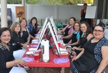 A look at Private Events for Adults / Let's paint private painting parties.... We put the art in party! It is a unique way to celebrate a special occasion. No painting or drawing experience necessary.