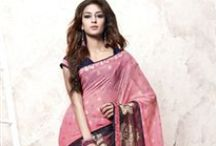 Ethnic Wear Designer Sarees / Sanwaree Fashion offers finest designer sarees and materials like jacquard, crepe, satin and many more at best prices with free shipping & cash on delivery in India.