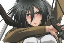 Mikasa / You KNOW she is one of the most badass/sexy women in Anime