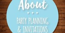 About Party Planning & Invitations / DIY party and event planning tips and ideas, printable and bespoke invitations, printable decor and theme and decorating ideas for baby showers, bridal showers, couple's showers, engagement parties, kid's birthdays, adult birthdays, anniversaries, or business events.