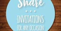 Invitations for All / Printable invitations for everyone and everything and DIY elements so you make your own, if that's your thing. Weddings, birthdays, anniversaries, retirement, business events, and even just week night get togethers - find the perfect invitation for your next party here.