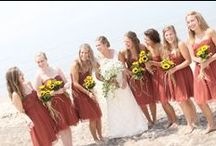 Fall Beach Wedding Ideas / Fall is hands down the favorite time of year for locals on the Outer Banks. Consider this time for your wedding...the days and the water are still warm, the nights are cool, the beaches are open and uncrowded, the crowds are less and the cost of everything is more affordable. Perfect!