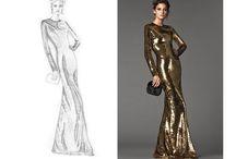FASHION DRAWING / Disegno di moda, Figurini di moda, Outfit